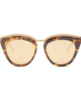 Eye Slay Mirrored Cat-eye Sunglasses