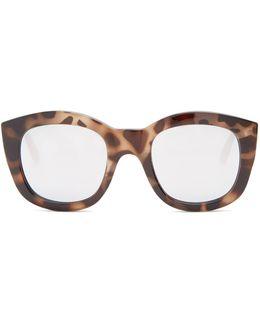 Runaways Mirrored Round-frame Sunglasses