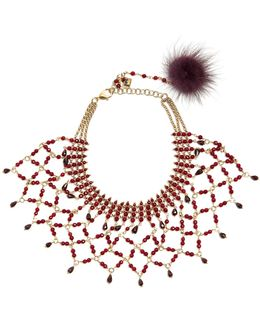 Rete Bead-embellished Necklace