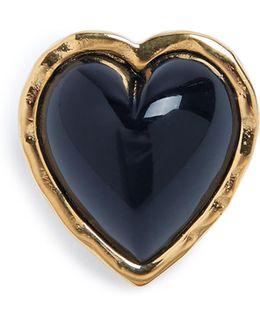 Heart-embellished Brooch