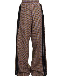 Sophie Checked High-rise Wide-leg Trousers