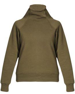 Tonia Funnel-neck Jersey Sweatshirt