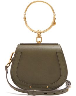 Nile Small Leather And Suede Cross-body Bag