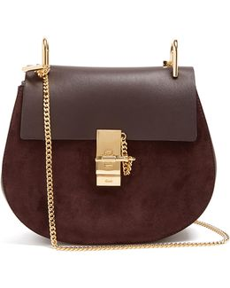 Drew Small Suede And Leather Cross-body Bag