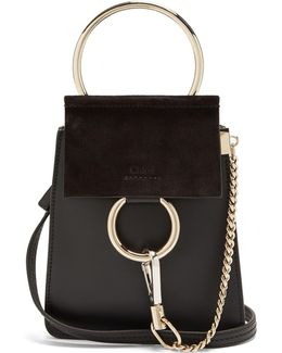 Faye Mini Suede And Leather Cross-body Bag