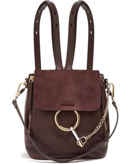 Faye Small Suede And Leather Backpack