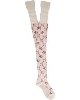 Gg Cotton-blend Over-the-knee Socks