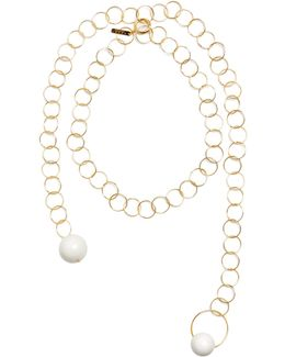 Sphere-embellished Chain Necklace