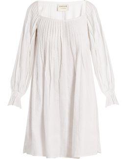 Square-neck Cotton Dress
