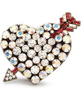 Crystal-embellished Heart Bracelet