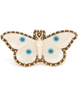 Moth-embellished Double Ring