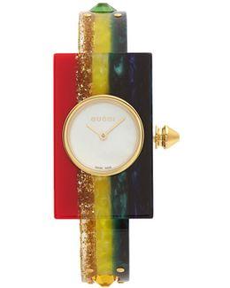 Striped Plexiglas Watch