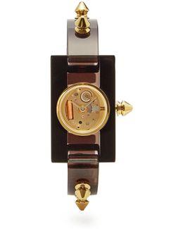 Stud-trimmed Plexiglas Watch