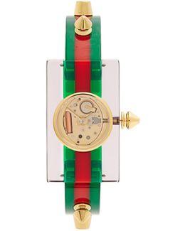 Studded Plexiglas Watch