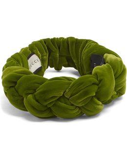 Braided-velvet Headband