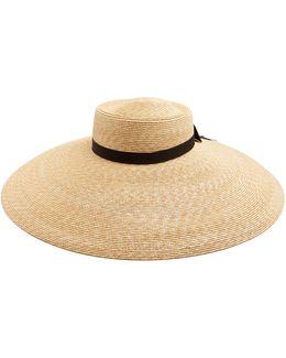 Wide-brim Straw Hat