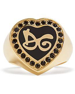 Logo-embellished Heart Ring