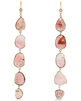 Diamond, Tourmaline & Rose-gold Earrings