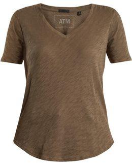 V-neck Cotton-jersey T-shirt