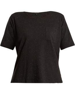 Patch-pocket Cotton-blend T-shirt