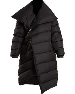 Asymmetric Quilted Down Coat