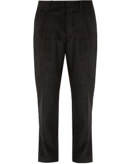 Tonga Tapered-leg Cropped Cotton-corduroy Trousers