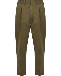 Tonga Slim-fit Cropped Cotton-drill Chino Trousers