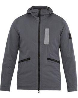 Zip-through Hooded Technical-fabric Jacket