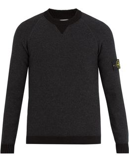 Contrast-edge Sweater