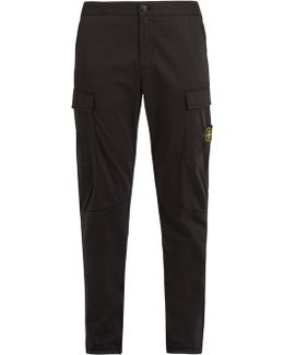 Tapered Stretch-poplin Cargo Trousers