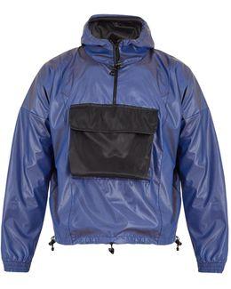 Contrast-pocket Hooded Jacket