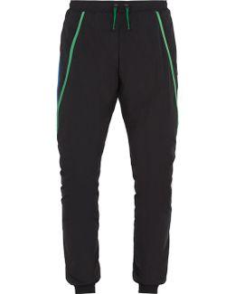 Contrast-trim Tapered-leg Nylon Track Pants