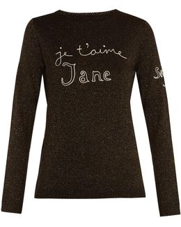 Je T'aime Jane Wool-blend Sweater