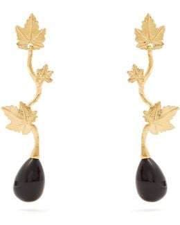 Vitis Gold-plated Drop Earrings