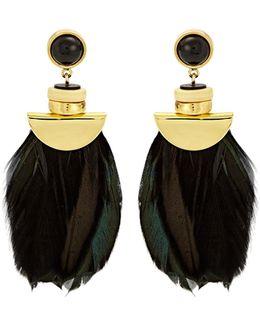 Eagle Feather-drop Earrings