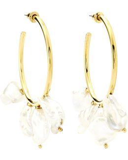 Keshi Gold-plated Hoop Earrings