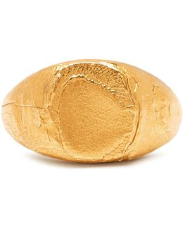 False Promises Gold-plated Signet Ring