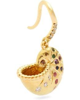 Diamond, Multi-stone & Yellow-gold Earring