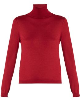 Roll-neck Cashmere And Silk-blend Sweater