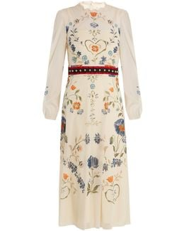 Floral-print Silk-blend Georgette Dress