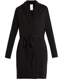 Double-layer Pima Cotton-jersey Wrap Robe