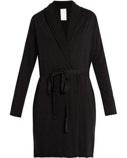 Double-layer Pima Cotton-jersey Wrap Robe