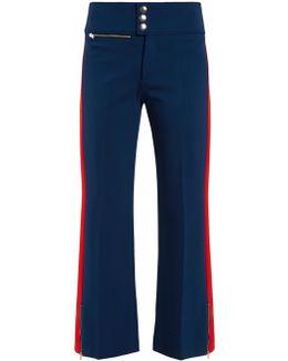 Contrast-stripe Slim-leg Jersey Trousers