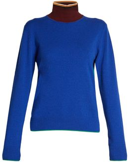 Colour-block High-neck Sweater