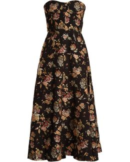 Strapless Brocade Dress