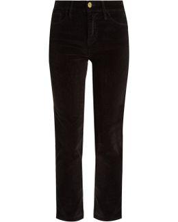 Le Velveteen Mid-rise Straight-leg Jeans