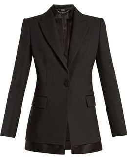 Single-breasted Wool And Silk-blend Jacket