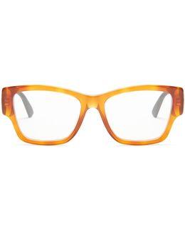 Rectangle-frame Acetate Glasses