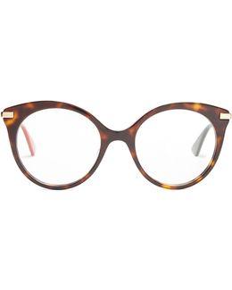 Round-frame Tortoiseshell Glasses