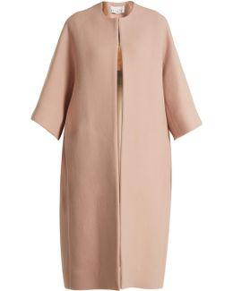 Dolman-sleeve Wool-blend Opera Coat